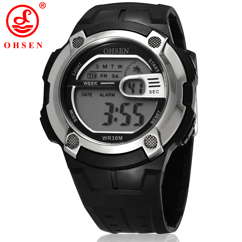2015 Real Reloj Free Shipping Led Alarm Light Waterproof Popular Digital Wrist Watches Boys Kids Sport Watch Special Clearance(China (Mainland))