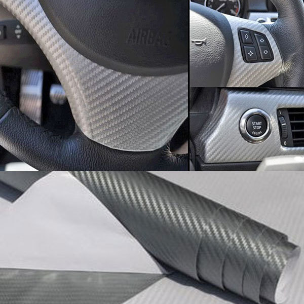 10 colors 127*60cm 3D Textured Carbon Fiber Vinyl Wrap Sticker Roll Film Body Sheet Car Decoration Decals Free Shipping(China (Mainland))