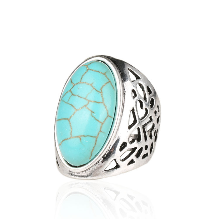 Tibet Sterling Silver Jewelry 925 Bohemian Ring Green Forever Aneis em ouro Free Promise Rings Carteiras