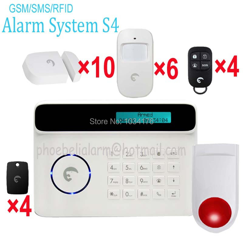 2 floor villa flat gsm home alarm system with loud whistle alarm ensurance security(China (Mainland))