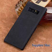 Personalizzato Cassa Del Telefono di Cuoio Reale Per Samsung Galaxy Note 8 9 S6 S7 Bordo S8 S9 Più A5 A7 A8 j3 J5 J7 Fatti A Mano una varietà di stili(China)