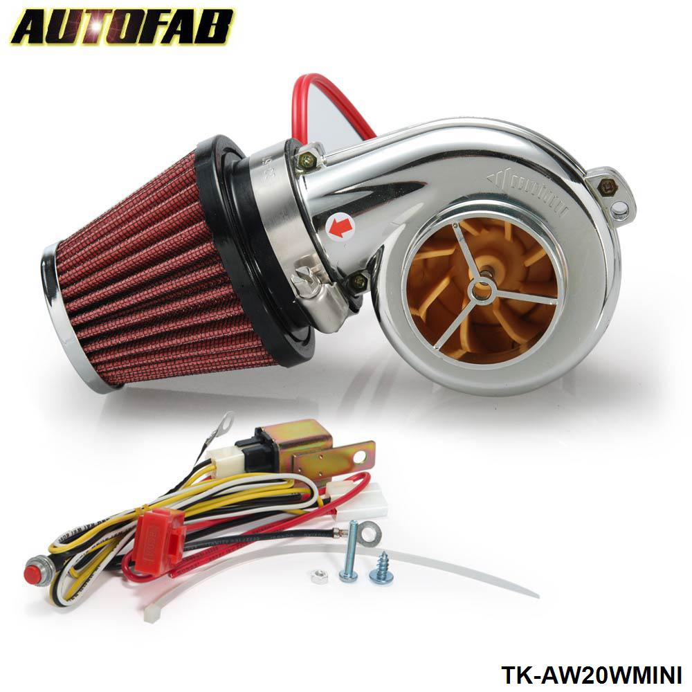 AUTOFAB - Turbo kits Mini Electric Turbo Supercharger Kit Air Filter Intake for all car Motorcycle TK-AW20WMINI(China (Mainland))