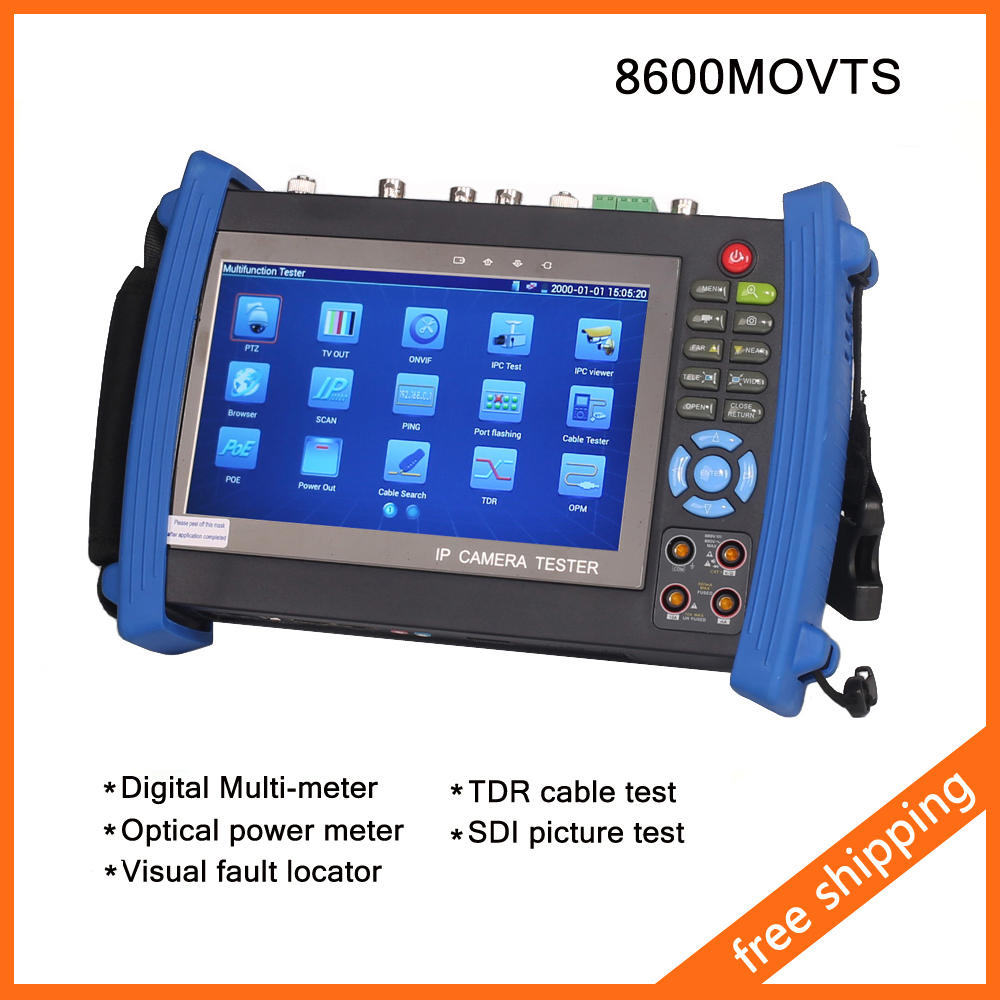 """IPC-8600MOVTS 7"""" Touch Screen IP Camera Tester CCTV Tester POE WIFI Multi-meter Optical Power Meter Visual fault locator TDR SDI(China (Mainland))"""