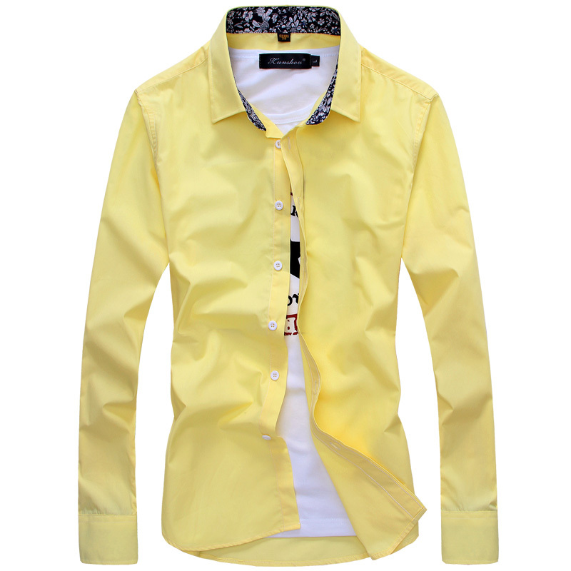Brand new 2014 men designer shirts big size men clothing for Branded casual shirts for men