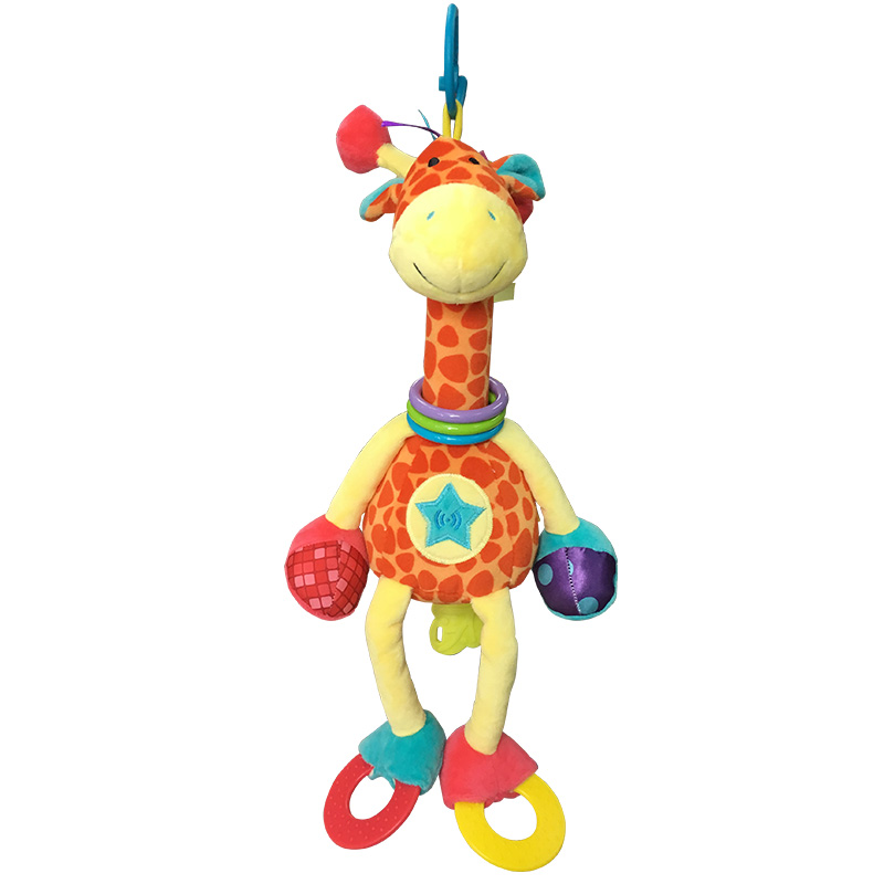 Plush Giraffe Animal, YKS Baby Plush Toy Developmental Interactive Toy Infant Baby Development Soft Giraffe Animal Handbells Rat(China (Mainland))