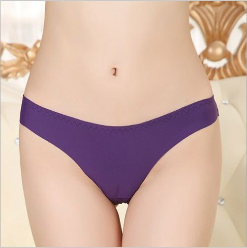2015 Sale Promotion Invisible Underwear Thong Panties Nylon Spandex Gas Seamless Crotch Thong Ice Women A
