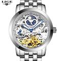2016 Men Watches Luxury Top Brand LIGE Sport Mechanical Watch Gold Clock Men Tourbillon Automatic Wristwatch