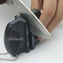 Hot Mini Ceramic Rod Tungsten Steel  Camp Pocket Kitchen Knife Sharpener Tool
