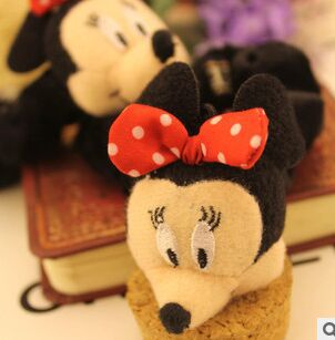 2015 summer style kids Meng meng da cute mickey velvet bow hair bands mouse head hair rope hair accessories headband(China (Mainland))