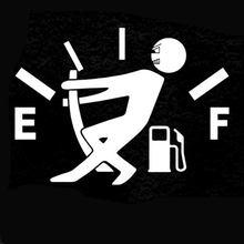 12.7 Cm * Cao 9.2 Cm Gas Tiêu Thụ Decal Nhiên Liệu Gage Trống Dán Ngộ Nghĩnh Vincy JDM Xe Ô Tô Kiểu Dáng Xe đen Bạc C8-0821(China)