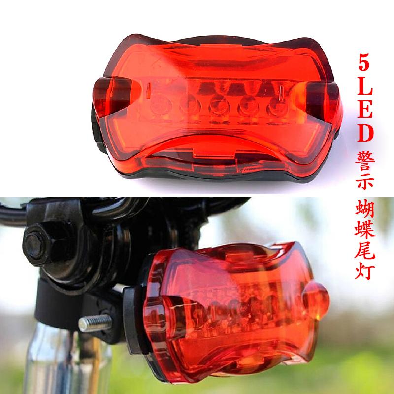 LED bike light 5 LED Rear Tail daytime running light Red Bike Bicycle Back Light Rear Tail Light parking light SM011