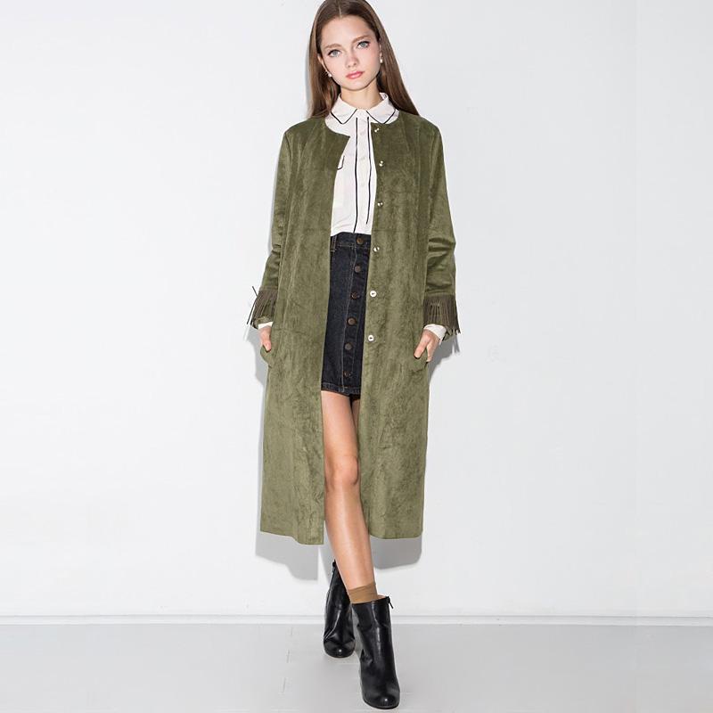2016 New Fashion Spring Autumn Thin Women Trench Coat Long Outwear Plus Size 3XL Slim Trench Coat for Women Cardigan Coat Y134E