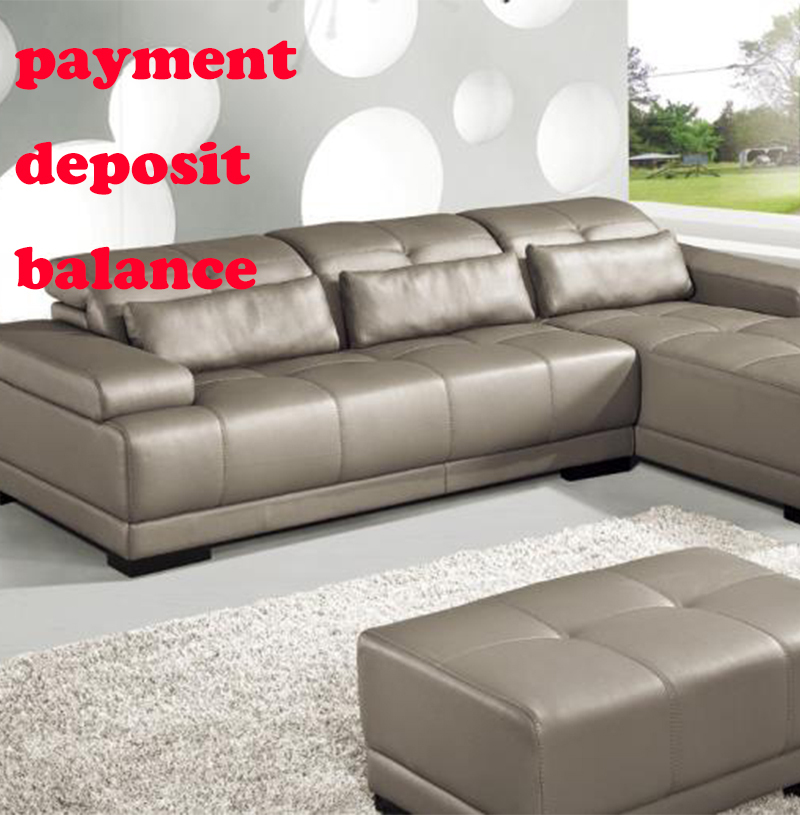 Payments Deposit Balance Of Living Room Sofa Leather Sofa Bed Pillows