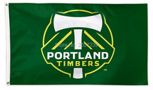 Portland Timbers MLS Flag 3x5FT banner 100D 150X90CM Polyester brass grommets custom66, Free Shipping(China (Mainland))