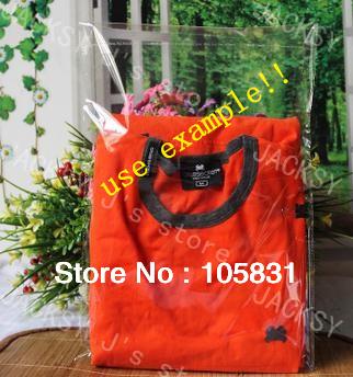 Free Shipping 30*40cm Clear self adhesive seal opp packaing plastic bags fit t-shirts garment shopping can print custom logo