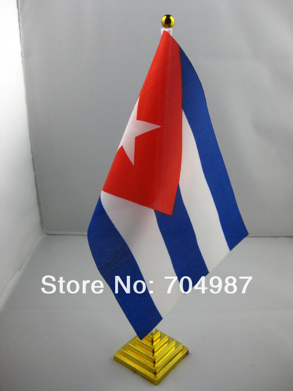 Cuba table flag desk flag table banner desk banner free shipping(China (Mainland))