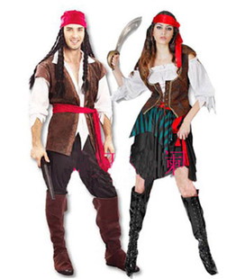 Pirates of the Caribbean cosplay dress Halloween male and female pirate costume party costumes DS uniforms Adult cosplay