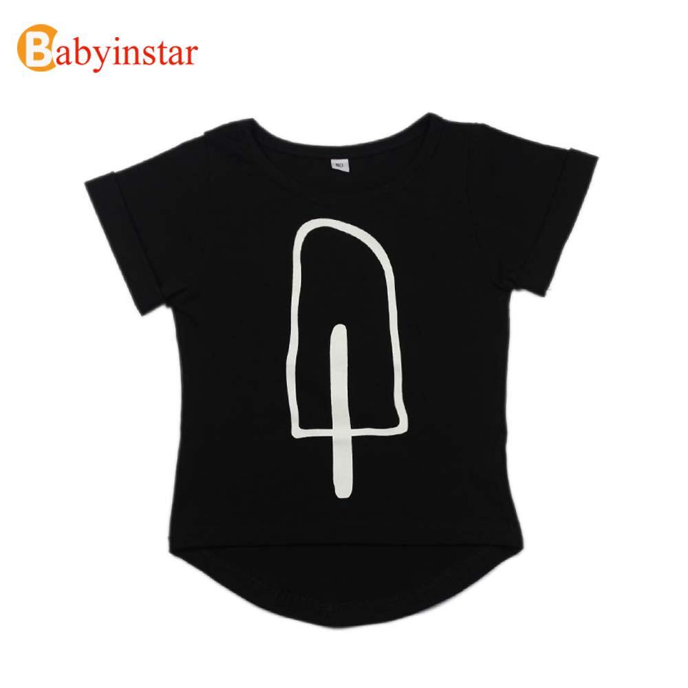 1-6Y Kids Black T-Shirt Lovely Cartoon Print Children Clothing Outfits High Quality Fantasia Infantil Boys Girls T Shirt(China (Mainland))