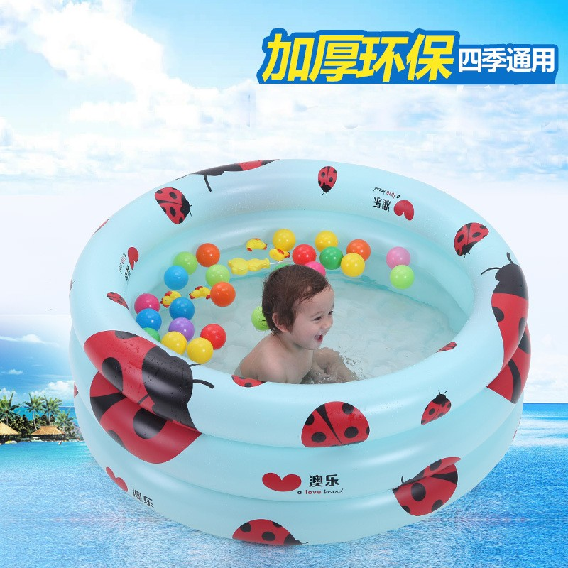 2016 NEW STYLE Baby Kids Inflatable Bathtub Summer Infant Square Plastic Swimming Pool Cartoon Folding Outdoor Swimming Pool(China (Mainland))