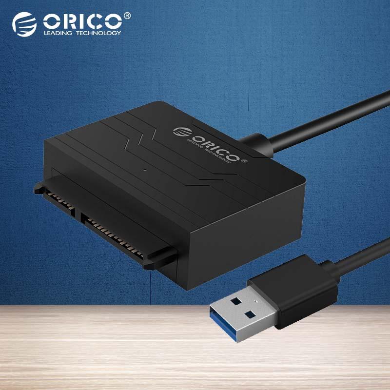 ORICO SSD SATA Adapter Cable 2.5 Inch Hard Disk Driver Cable Converter Super Speed USB 3.0 To SATA 22 Pin (27UTS-BK)(China (Mainland))