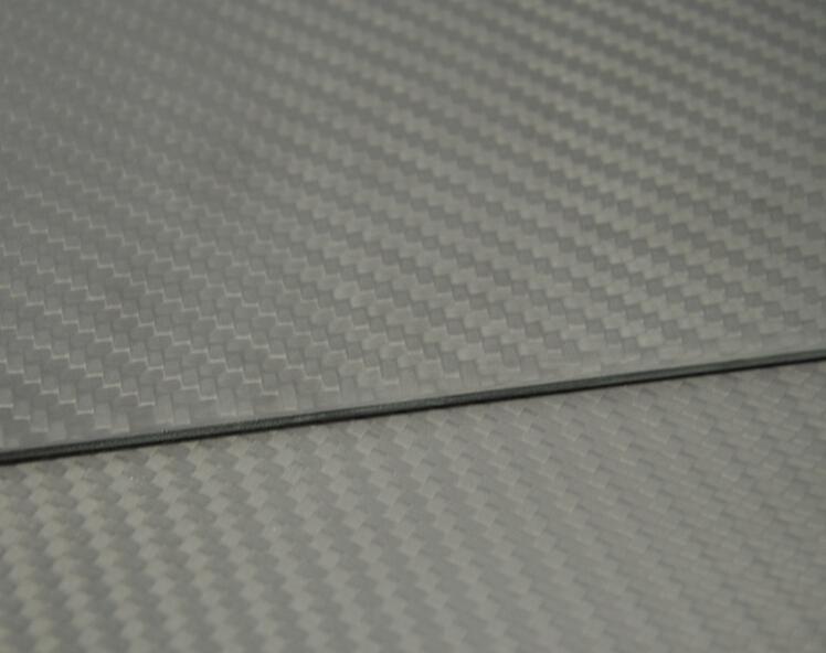 300mmX500mmX2mm 100% 3K Carbon Fiber Plate Panel Sheet Matte Surface 2mm Thick(China (Mainland))