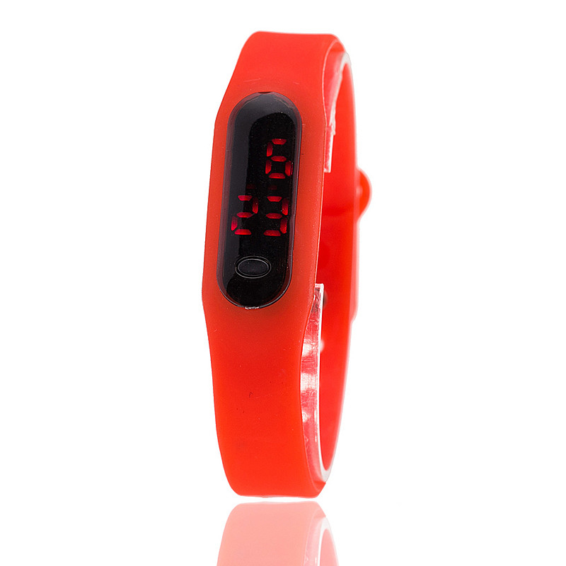 Fashion Sport LED Watch Candy Color Silicone Rubber Touch Screen Digital Watches relojes mujer Waterproof Wristwatch Bracelet - aiwise store