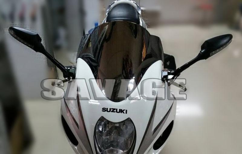 Фотография For SUZUKI GSX1300R HAYABUSA 1999-2015 Motorcycle Adjustable Side Rearview Mirror with LED Turn Signal Light NEW