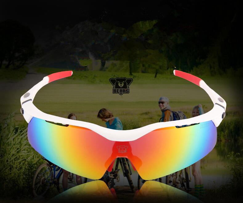 Cycling GlassesMen Women Polarized Sport Road MTB Mountain Bike Bicycle Glasses Sunglasses Eyewear Goggles TR90 5 Lens B7 UV400