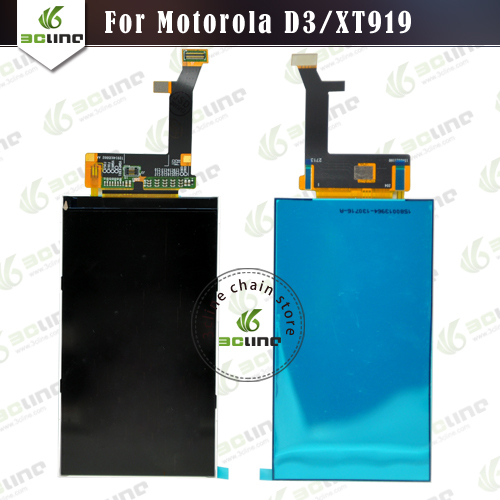100% New XT919 Replacement LCD Display Screen For Motorola D3 XT919 LCD Display Screen Free Shipping(China (Mainland))