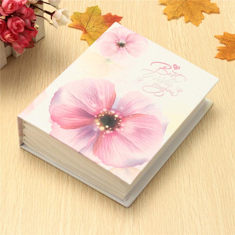 Useful 6'' 100pcs Flower Large Photo Album Memory Pictures Storage Hold Case Wedding Photo Scrapbook Gift 4 Color(China (Mainland))