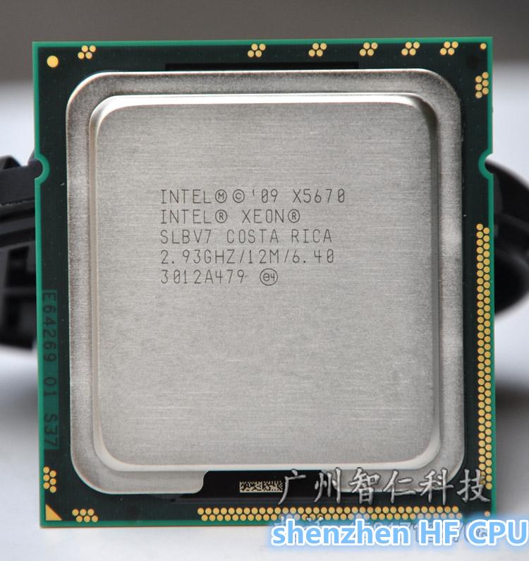 Intel Xeon X5670 Processor 2.93GHz/LGA1366/12MB L3 Cache/Six Core server CPU (working 100% Free Shipping)(China (Mainland))