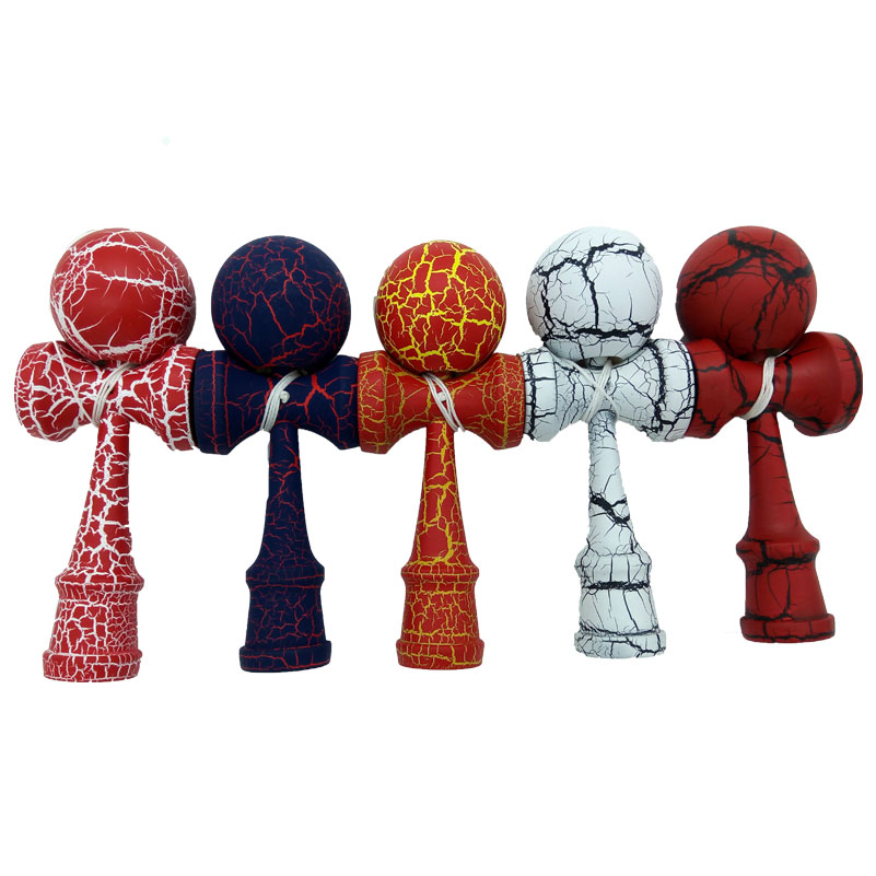 Full Crack Kendama Professional Wooden Toy Kendama Skillful Juggling Ball Game Toy Gift For Children Adult Christmas Toy Gift(China (Mainland))