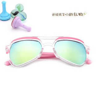 Super Cool Children irregularity shaped frog sunglasses for Boys and girls decoration Glasses semi transparent colorful coating(China (Mainland))