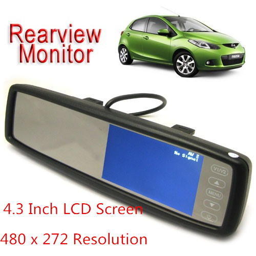 Touch Screen Car Rear View Mirror DVR Video Monitor For VCD DVD TV Camera,480 x 272 4.3 Inch TFT LCD, Free Shipping<br><br>Aliexpress