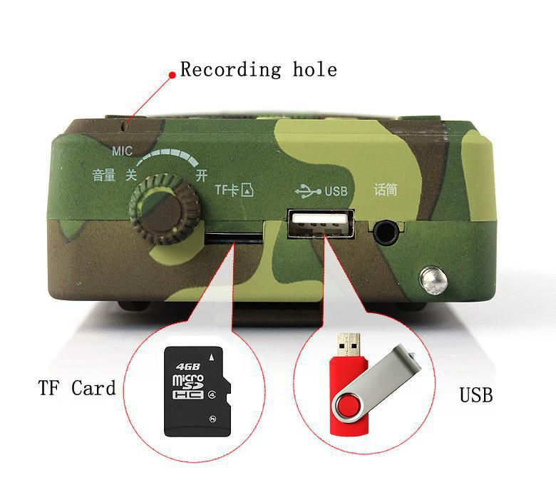 new products for 2014 outdoor speaker bird hunting hunting bird sound caller mp3(China (Mainland))