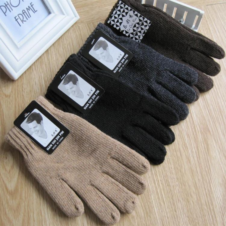 2015 autumn and Winter mens fashion solid color knitted gloves male thicken thermal warm  black wool knitted gloves mittensОдежда и ак�е��уары<br><br><br>Aliexpress