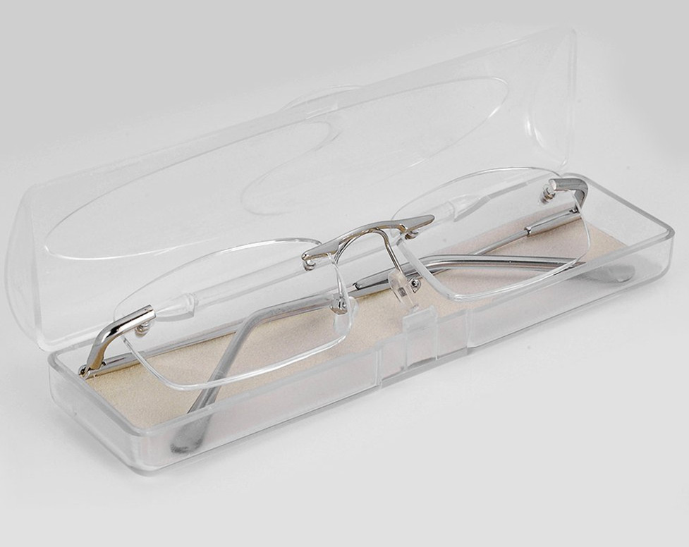 Rimless Clear Glasses : Free Shipping Senior Book Reader Rimless Frameless High ...