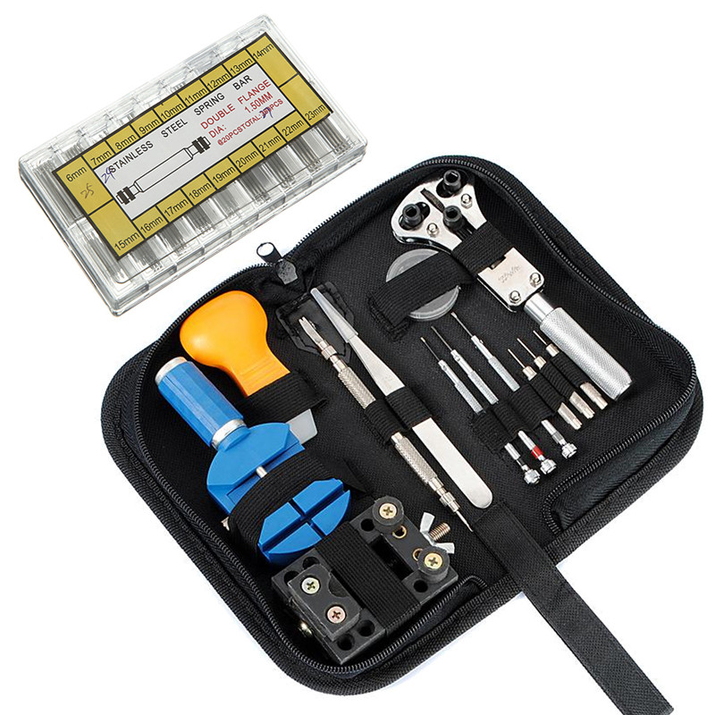 Hot Sale 283 Pcs/Lot Watchmaker Watch Repair Tool Kit Watch Spring Pin Bar Back Case Opener(China (Mainland))