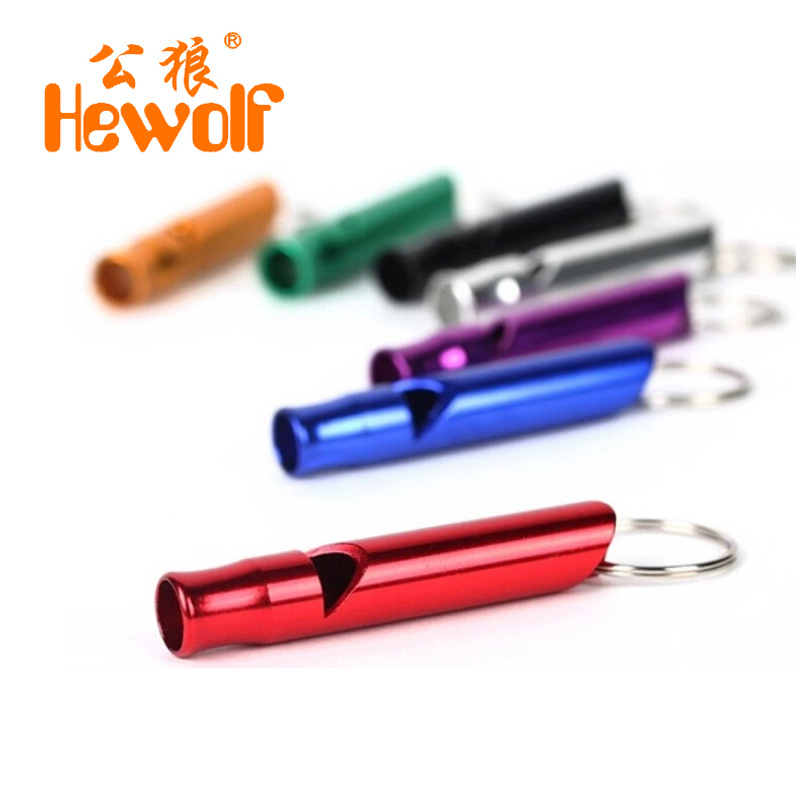 Male wolf outdoor supplies camping adventure training whistle aluminum alloy survival whistle multifunction(China (Mainland))
