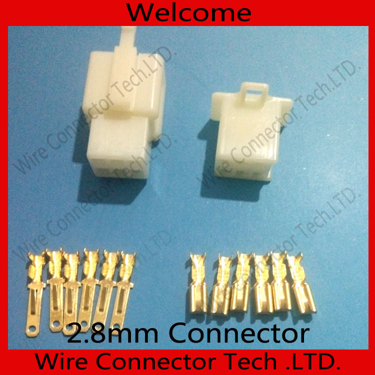 50 sets Electric bike/ Car/ RC/ RV molex 2.8mm Connector Plug 6Pin Male&Female wires Free shipping(China (Mainland))