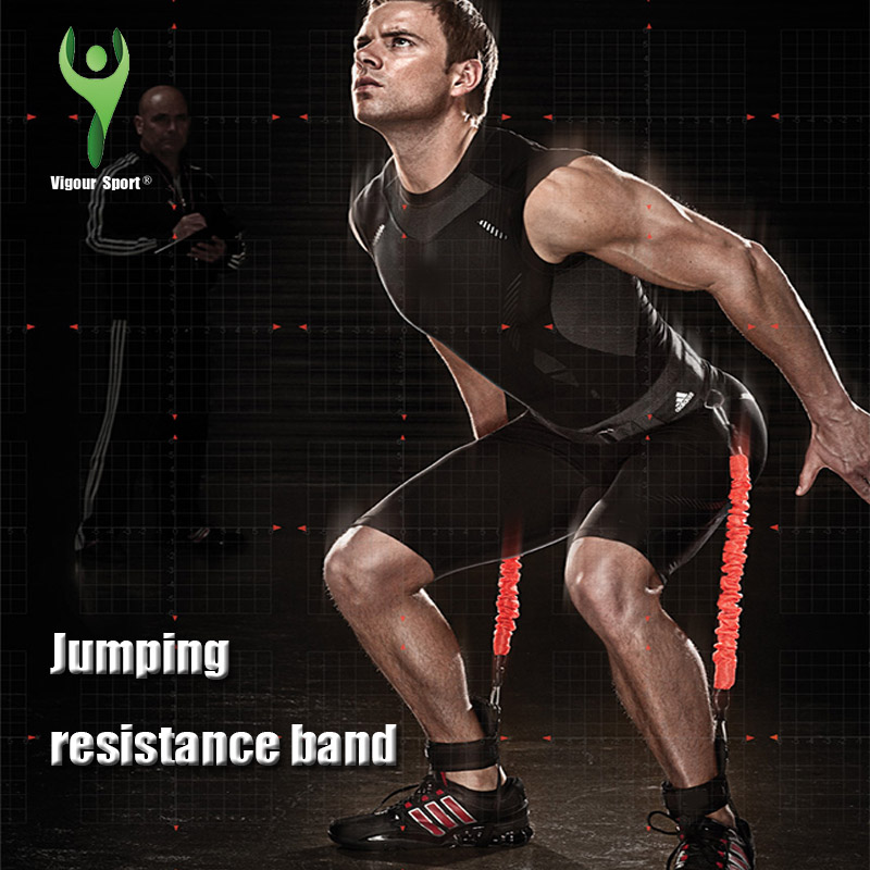 Jump Resistance Bands Fitness Equipment Trainer Rope Training Pedal Exercise Expander Crossfit Basketball Volleyball Pull Rope