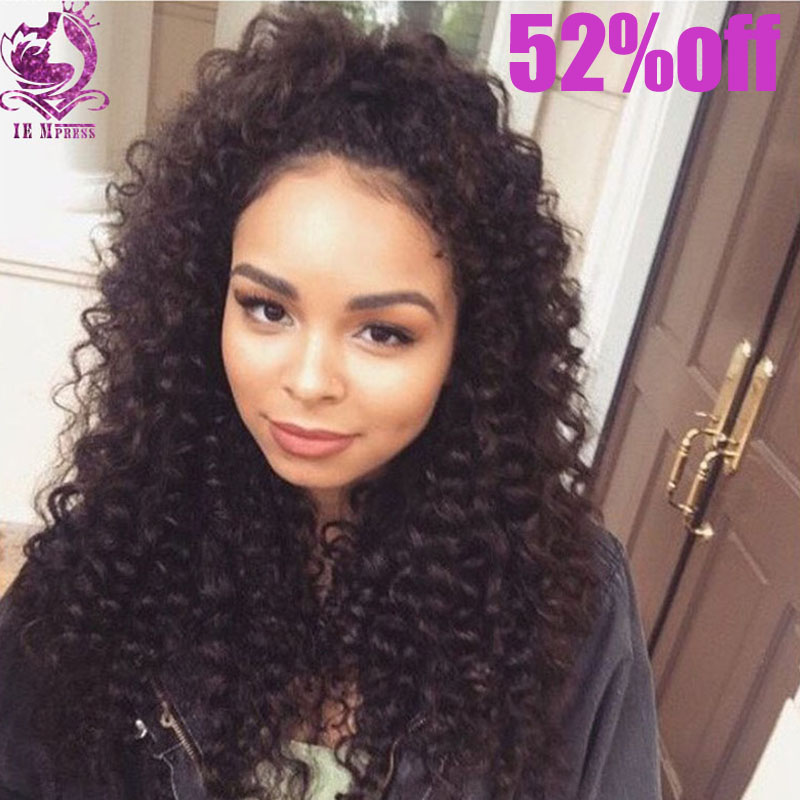 8A Full Lace Human Hair Wigs for Black Women Glueless Full Lace Wigs Brazilian Virgin Hair Deep Curly Lace Front Human Hair Wigs(China (Mainland))