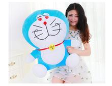 huge lovely plush new blue eyes-heart doraemon toy stuffed big doraemon doll gift about 70cm