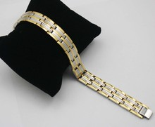 Silver Gold Two Tone Link Chain Bracelets Men Jewelry Stainless Steel Germanium Energy Health Magnetic Bracelets China
