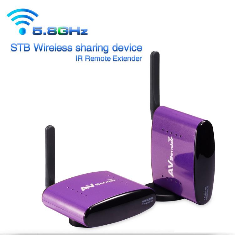 New 5.8 g wireless av transmitter and receiver ir remote 300m  sender transmitter  av wireless free shipping<br><br>Aliexpress