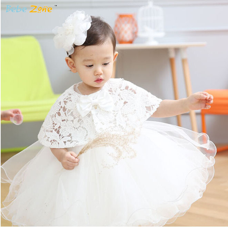 Summer Baby Girl Dress Toddler Christening Dress Wedding and Party Robe Fille Enfant with Smock Baby Girl Clothes 3-24M AMJ535(China (Mainland))