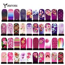 5sheets Water Transfer Nail Stickers Flowers Leopard Designs Nail Tips Wraps DIY Nail Decals(China (Mainland))