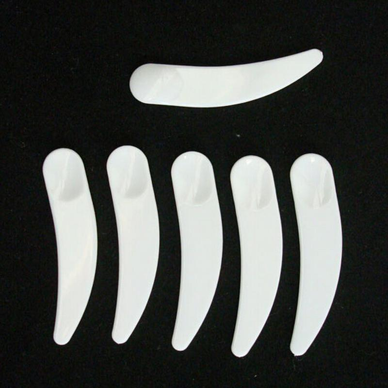 10Pcs Cosmetic Plastic Spatula Scoop disposable white Makeup Facial Mask Stick spoon Professional Makeup Tools Wholesale(China (Mainland))
