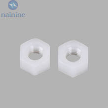 Buy 50Pcs DIN934 M2 M2.5 M3 M4 M5 M6 M8 PA66 Nylon Hex Nut Hexagon Plastic Hex Nuts NL05 for $1.42 in AliExpress store