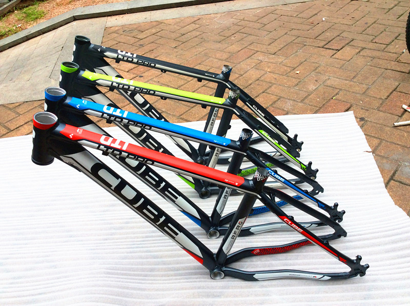 2015 sales CUBE aluminum MTB bike frame26x16 / 17-inch red green blue white free shipping(China (Mainland))